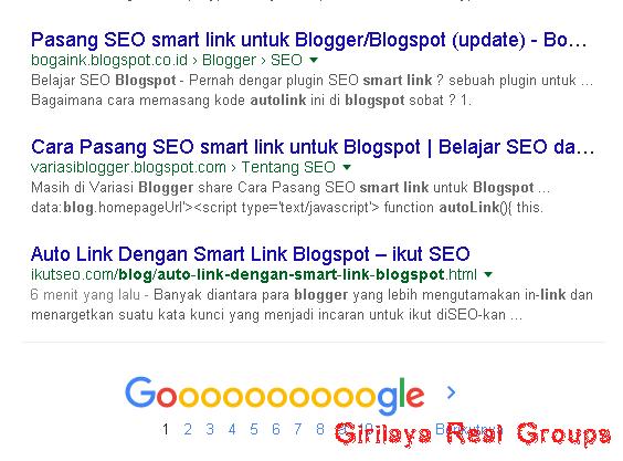 Auto Link Dengan Smart Link Blogspot