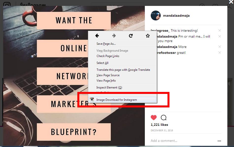 Cara Mudah Simpan Gambar Instagram