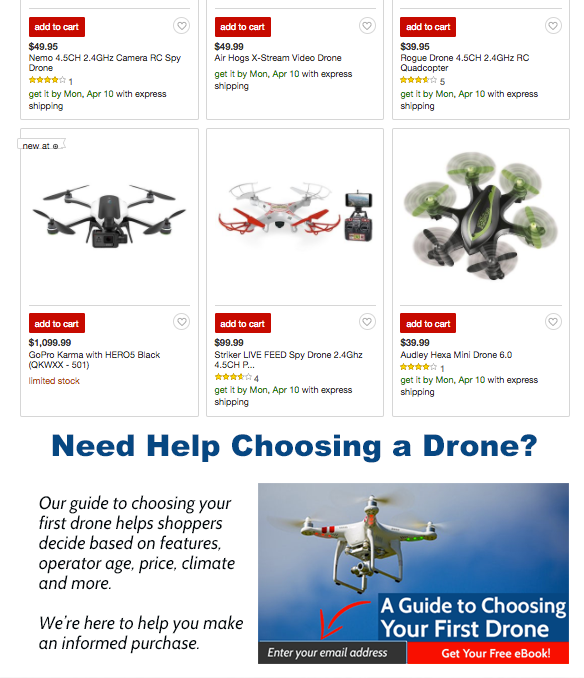 drone category target
